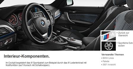 BMW Serie 1 con paquete M