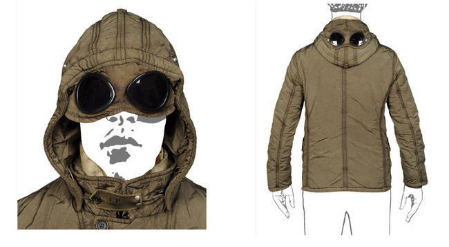 CP COMPANY abrigo gafas capucha