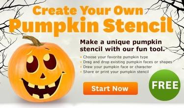 Una aplicación on line para crear plantillas de calabazas de Halloween