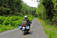 América en moto. Exploración de la Isla de Vancouver.