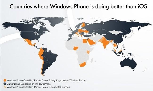 Los 24 países donde Windows Phone supera a iOS en cuota de mercado [Infografía]