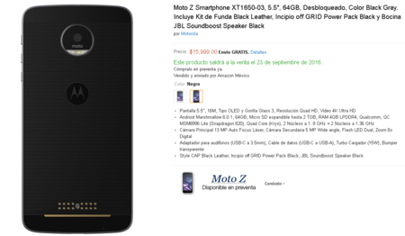 Moto Z Preventa Mexico Amazon