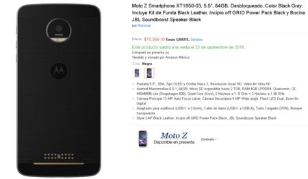 Moto Z Preventa Mexico Amazon