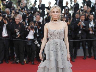 Y entonces llegó ella... Diane Kruger se convierte en la estrella de Cannes con la espalda al descubierto