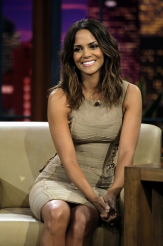 Halle Berry in The Show from Jay Leno Dressed in Dolce & Gabbana