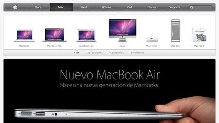 Apple rediseña ligeramente su página web