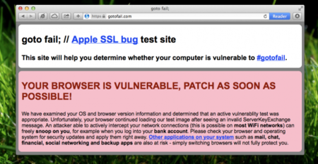 "Apple y ""goto fail"", un fallo de seguridad en SSL/TLS y su posible relación con la NSA"