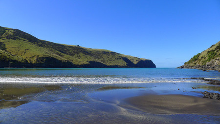 Playa de la bahía Long Bay. Península de Banks