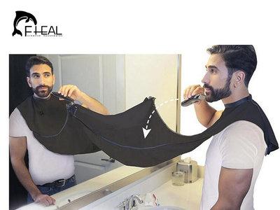 Babero ideal para afeitarse y no dejar caer pelos ahora en Aliexpress rebajado por 2,53 euros y envío gratis