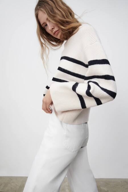 Zara Jersey Basico Rayas Marineras 03