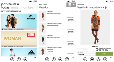 Privalia Mobile para Windows Phone