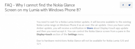 Nokia Glance FAQ
