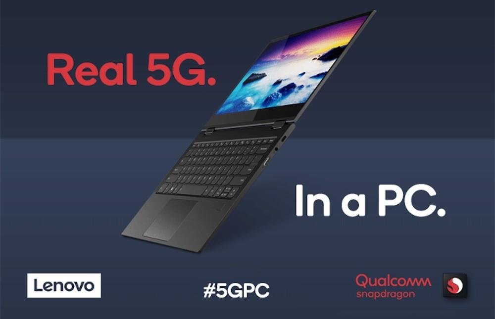 El primer ordenador del mundo con 5G llega de la mano de Lenovo y el Qualcomm Snapdragon 8cx