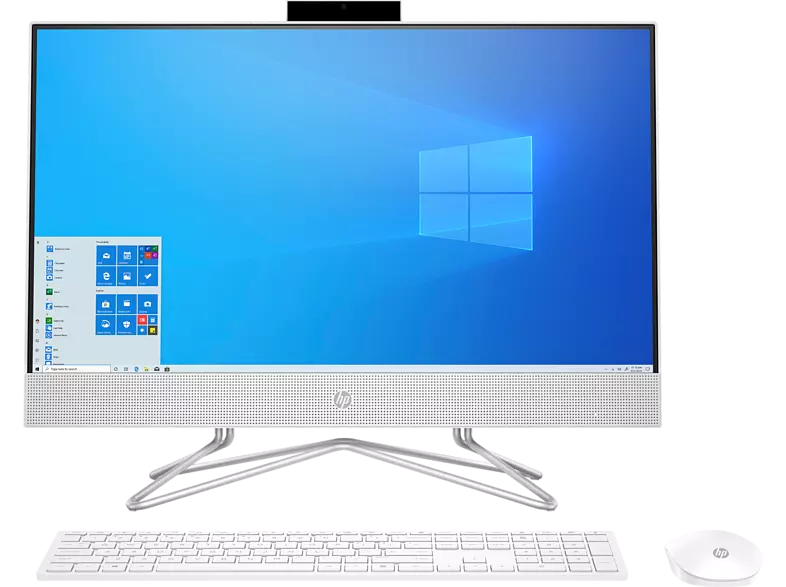 "All in one PC - HP 24-df0045ns, 23.8"" Full-HD, Intel® Core™ i3-10100T, 8 GB, 512 GB SSD, W10 Home, Blanco"
