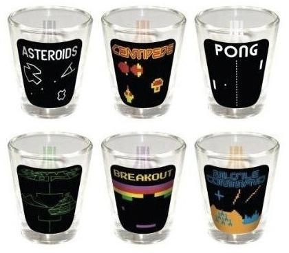 Vasos de Atari, sírvete en tus videojuegos clásicos favoritos
