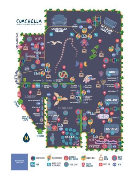 Mapa Coachella