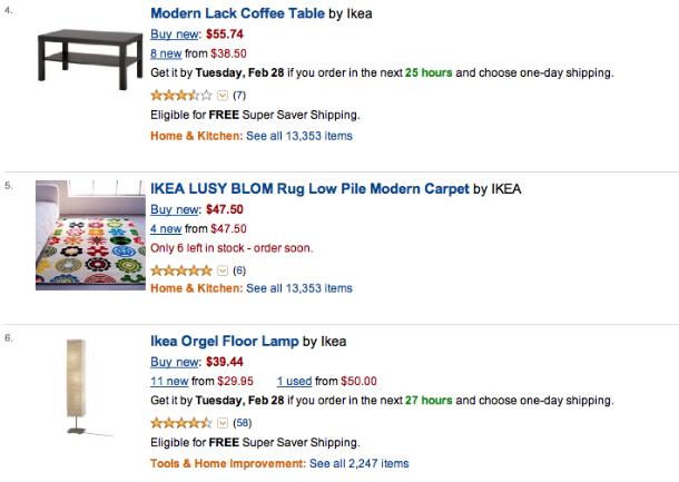 Compra online los muebles de ikea en amazon for Ikea compra tus muebles