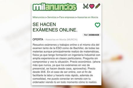Te Hago El Examen Online Por 20 La Nueva Situación Estudiantil Es Una Barra Libre Para Las Trampas