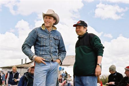 Ang Lee rodando Brokeback Mountain