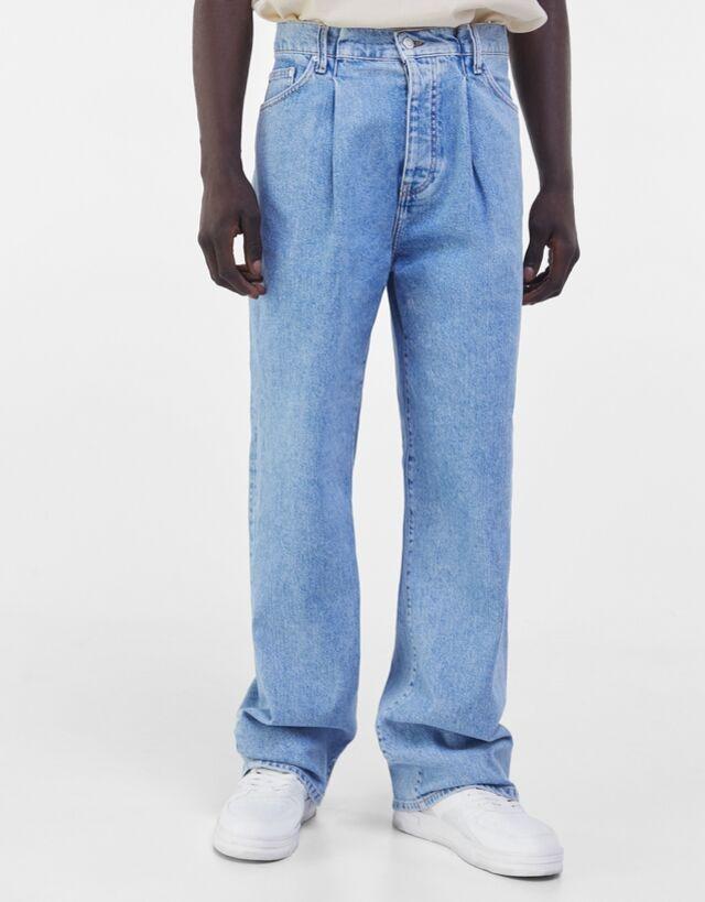 Jeans xtreme baggy con pliegues