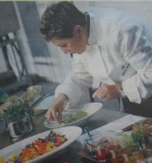 Montse Estruch y las flores en Madrid Fusión