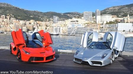 Ferrari LaFerrari vs Ferrari Enzo: de paseo por las colinas (vídeo)