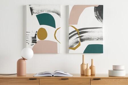 Fb923168eef3a5ad2a3ec0ab353ab56b0897c55d Canlia001mul Uk Lia Abstract Rebecca Hoyes Set 2 Canvas Wall Art Prints A2 Multi Ar3 2 Lb02 LsJuego de 2 láminas enmarcadas A2 'Lia' de Rebecca Hoyes