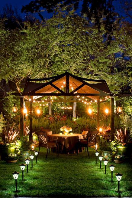 Elegant Lighting Backyard Ideas