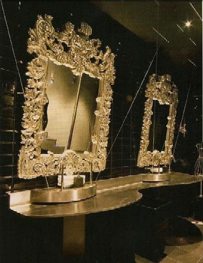 Decoración barroca en el cuarto de baño