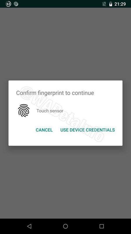 Fingerprint Android Alert