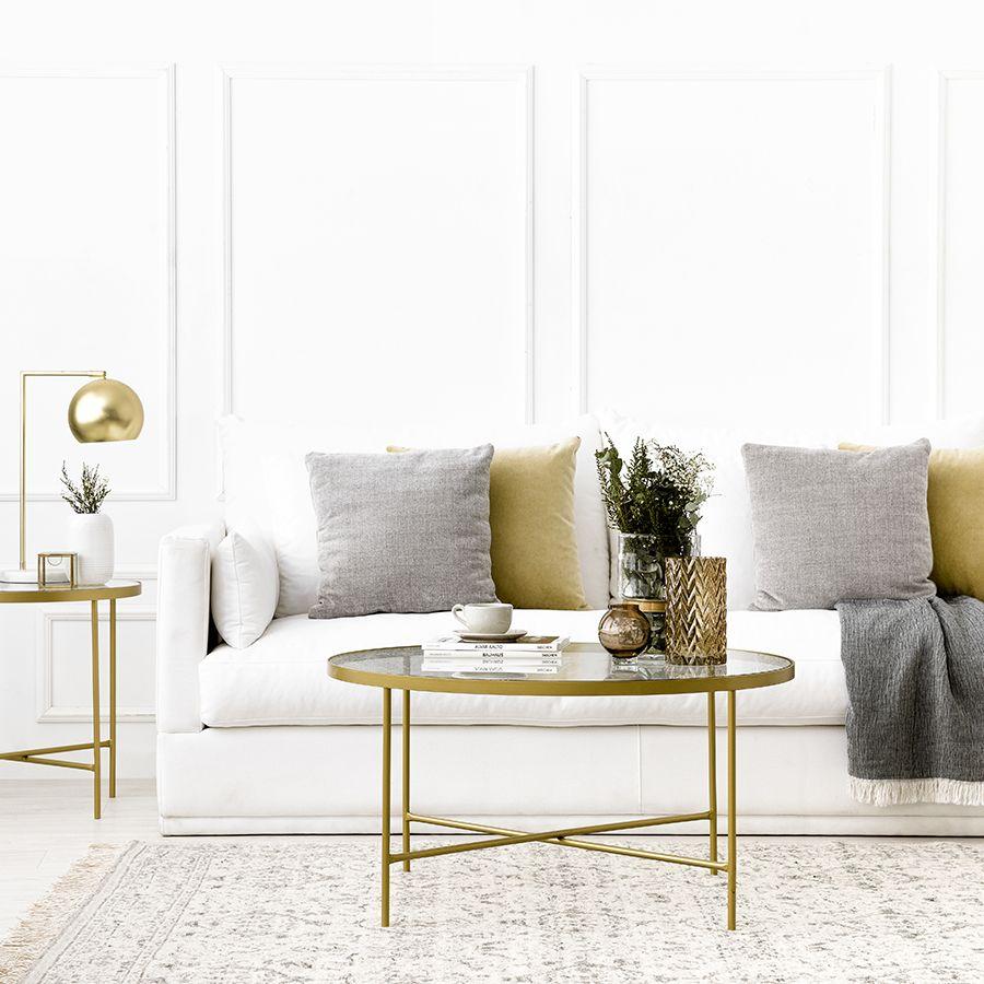 Mesa de centro dorada