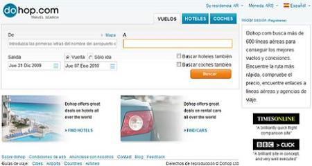 DoHop, buscador de vuelos, hoteles y alquiler de coches