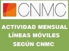 Resultados mensuales portabilidad móvil según la CNMC CMT móvil