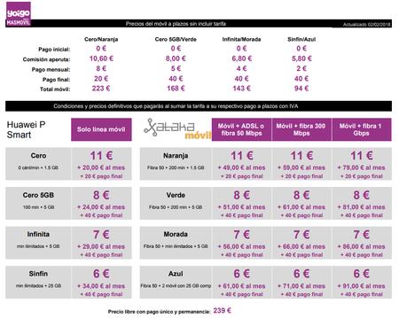 Precios Huawei P Smart Con Tarifas Yoigo