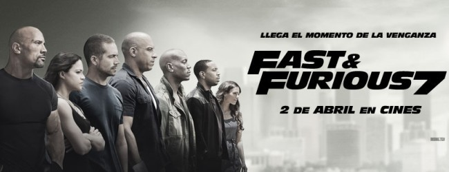 Banner español de Fast And Furious 7