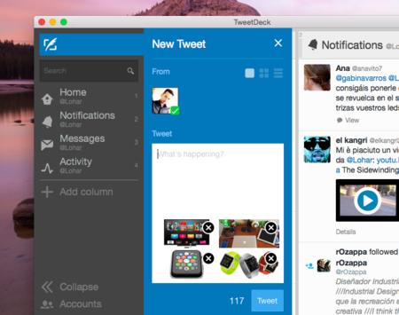Muchas de las novedades anunciadas hace meses para Twitter llegan a TweetDeck para Mac