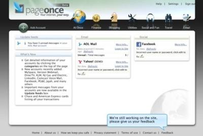 PageOnce, unifica toda tu información relevante en la web en un único lugar