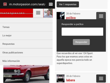 Página Motorpasión para móviles