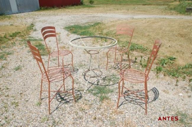 Antes y despu s mobiliario r stico de jard n - Mobiliario rustico ...
