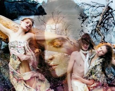 Kenzo, campaña Primavera-Verano 2009 con Magdalena Frackowiak y Guinevere Van Seenus