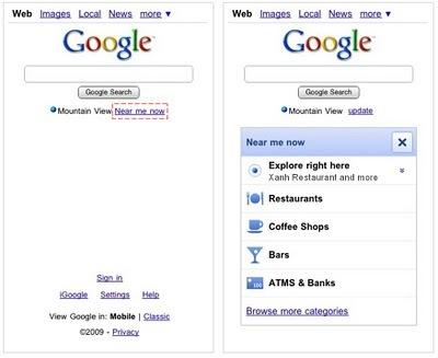 'Near Me Now' de Google, ampliando los servicios móviles