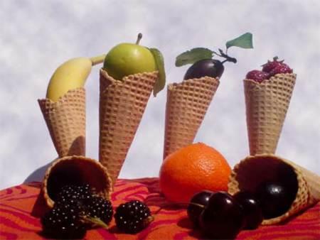 Helados de frutas, ¿realmente contienen menos calorías?