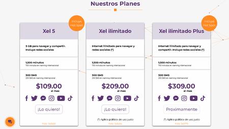 Planes prepago Inxel Omv Altan México