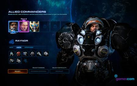 En StarCraft II: Legacy of the Void podremos tomar el papel de nuestro héroe favorito con Comandantes aliados [GC 2015]