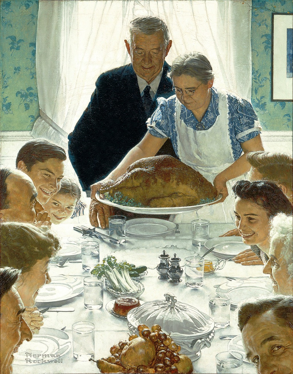 Freedom From Want de Norman Rockwell
