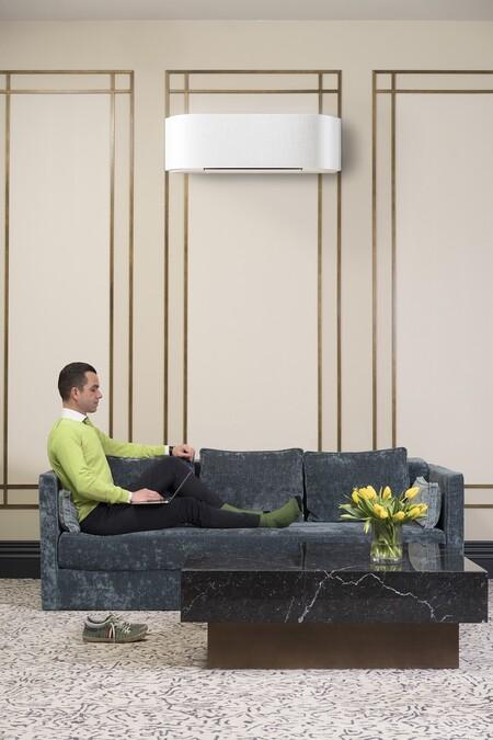 Split de aire acondicionado que se integra en la decoración