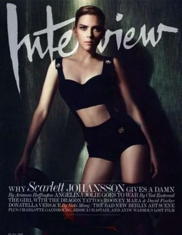 Scarlett Johansson, más tonificada que Eva Nasarre en la portada de Interview