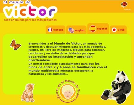 El mundo de Víctor, juegos y actividades online para los peques