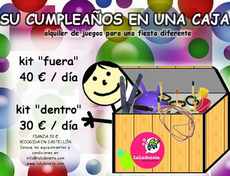 """""""El cumpleaños en una caja"""": si vives en Castellón, te gustará esta idea para organizar juegos de cumpleaños"""