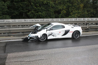 Dolorpasión™: un McLaren 650S Spider besó el guardarrail en Austria